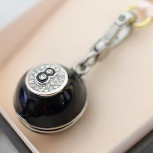 NEW✨ Juicy Couture 8 Ball Pave Locket Silver Charm